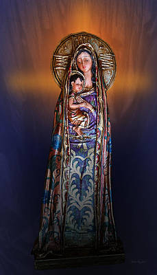 Mother Mary Digital Art - Blessed Be by Xueling Zou
