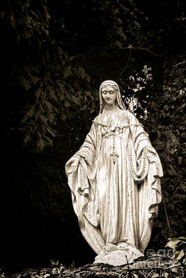 Blessed Virgin Mary Print by Olivier Le Queinec