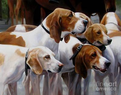 Blessing Of The Hounds Print by Janet  Crawford