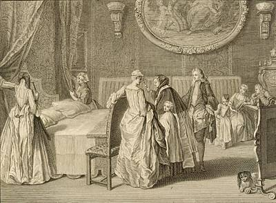 Blessings Drawing - Blessing Of The Marriage Bed by Bernard Picart