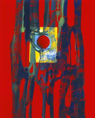 Reverse On Glass Painting - Blickpunkt / Spotlight by Annelie Dachsel-Widmann