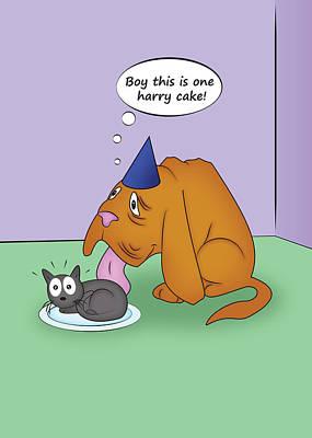 Blind Dog Birthday Print by Jeanette K