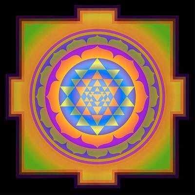 Tibetan Buddhism Mixed Media - Bliss Yantra by Svahha Devi