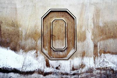 Columbus Ohio Photograph - Block O by Rachel Barrett