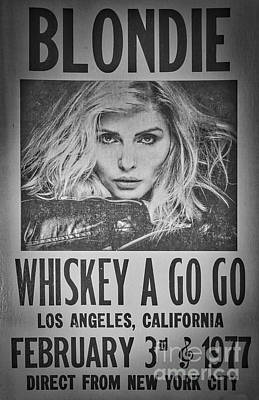 Punk Rock Music Photograph - Blondie At The Whiskey A Go Go by Mitch Shindelbower
