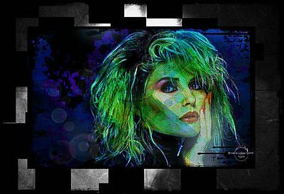 Blondie Digital Art - Blondie - Debbie Harry by Absinthe Art By Michelle LeAnn Scott
