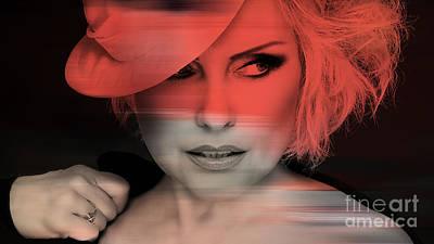 Female Mixed Media - Blondie Debbie Harry by Marvin Blaine