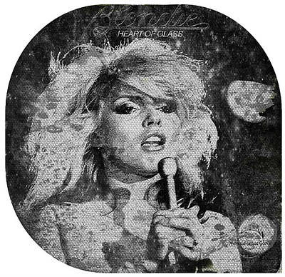 Blondie Digital Art - Blondie - Heart Of Glass by Absinthe Art By Michelle LeAnn Scott