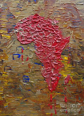 Social Issues Painting - Blood Africa by Jacqueline Athmann