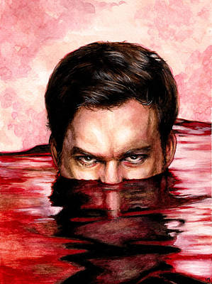 Blood Bath Print by Lanie McCarry