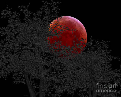 Blood Moon Print by Cheryl Young
