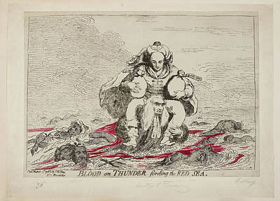 Corruption Photograph - Blood On Thunder Fording The Red Sea by British Library