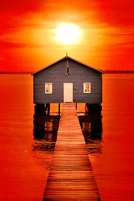 Shed Photograph - Blood Sunset by Az Jackson