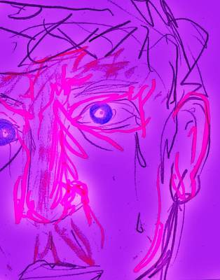 Tears Drawing - Blood Sweat Tears Fears  by Clark  Holladay