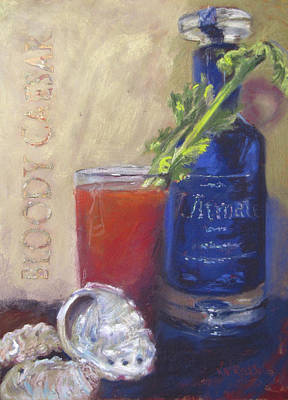 Cocktail Painting - Bloody Caesar by Vicki Ross