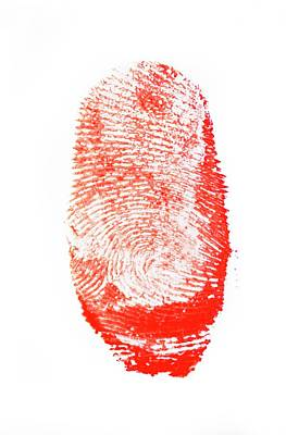 Bloody Fingerprint Print by Cordelia Molloy