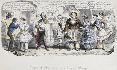 Suffrage Painting - Bloomer Cartoon, C1851 by Granger