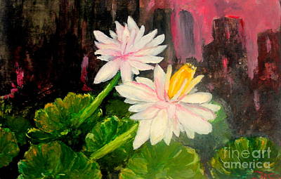 Pruning Painting - Blooming At Night  by Jason Sentuf