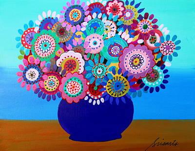 Blooming Florals 1 Original by Pristine Cartera Turkus