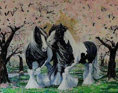 Pinto Painting - Blooming Gypsies by Ruanna Sion Shadd a'Dann'l