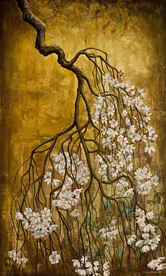 Blooming Sakura Print by Vrindavan Das