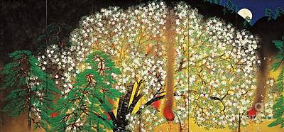 Taikan Painting - Blossoming Nihonga  by Pg Reproductions