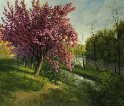 Blossoms On The Old Morris Canal Original by David Henderson