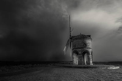 Black And White Rural Photograph - Blowing Away The Darkness by Chris Fletcher