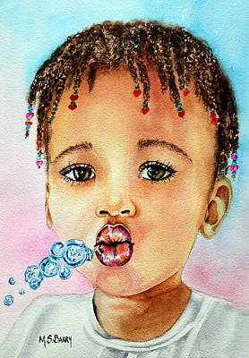 Blowing Bubbles Print by Maria Barry