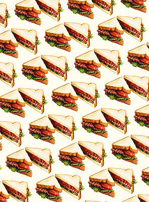 Lettuce Digital Art - Blt Pattern by Kelly Gilleran