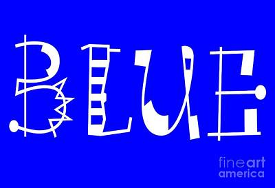 Blue - Primary Color - Letter Art Print by Barbara Griffin