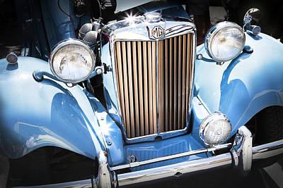 Vintage Photograph - Blue 1953 Mg by Theresa Tahara