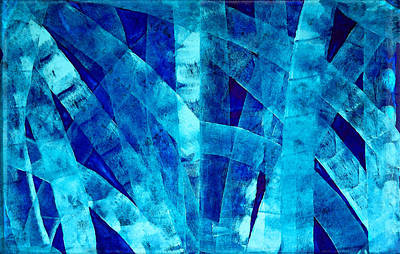 Blue Abstract Art - Paths - By Sharon Cummings Print by Sharon Cummings