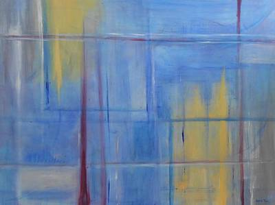 Free Form Painting - Blue Abstract by Jamie Frier