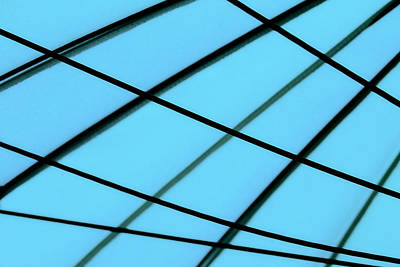 Geometric Abstract Photograph - Blue Abstract by Tony Grider