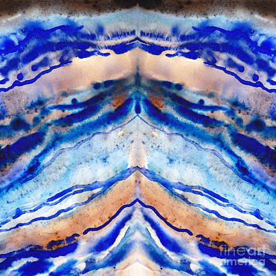 Semi-precious Painting - Blue Agate Abstract II by Irina Sztukowski