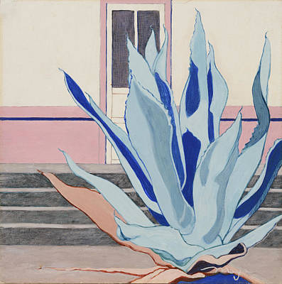 Las Cruces Painting - Blue Agave by Illusions Maya