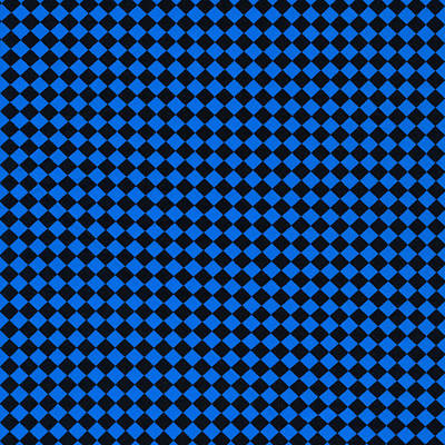 Blue And Black Checkered Pattern Cloth Background Print by Keith Webber Jr