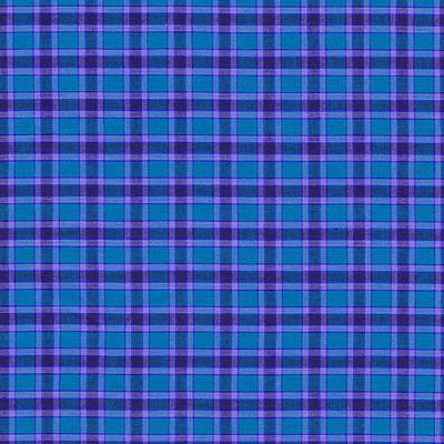 Blue And Purple Plaid Pattern Textile Background Print by Keith Webber Jr