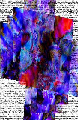 Abstract Digital Art Digital Art - Blue And Red Sopts by Mario Perez