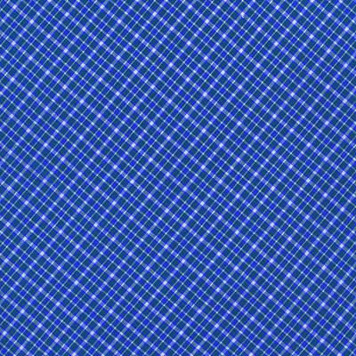 Blue And White Diagonal Plaid Pattern Cloth Background Print by Keith Webber Jr
