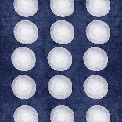 Niagra Falls Mixed Media - Blue And White Shibori Balls by Linda Woods