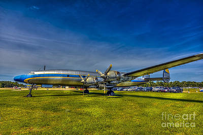 Airliners Photograph - Blue And Yellow Connie by Marvin Spates