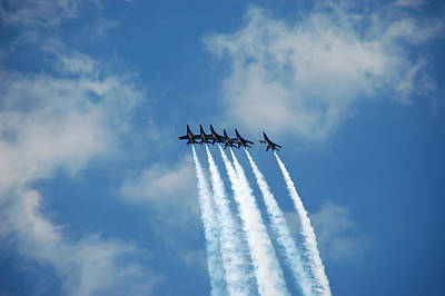 Sky Photograph - Blue Angels 3 by Aimee L Maher Photography and Art Visit ALMGallerydotcom