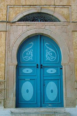 Applique Photograph - Blue Applique Door by Donna Corless