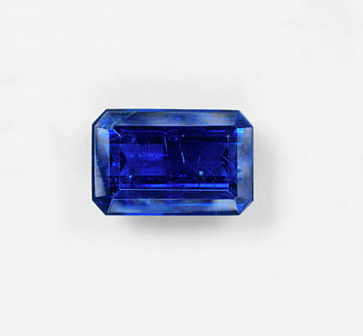 Baguettes Photograph - Blue Baguette Sapphire by Dorling Kindersley/uig
