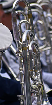 Marching Band Photograph - Blue Band Brass by Tom Gari Gallery-Three-Photography
