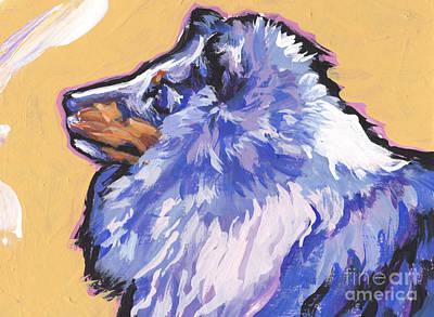Sheltie Painting - Blue Beauty by Lea S