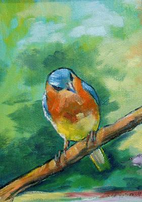 Blue Bird 1 Print by Carol Jo Smidt