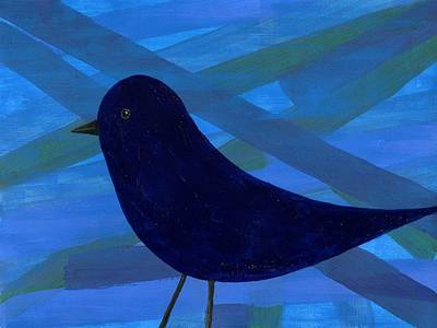Antea Painting - Blue Bird by Antea